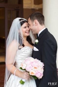 Classic pastel bridal bouquet