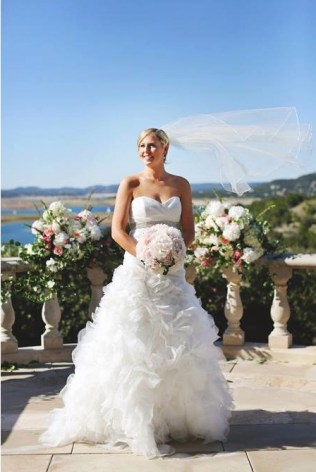 Lush peony bridal bouquet