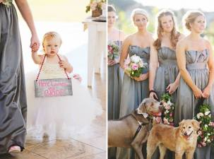 Sweetest flower girl and dogs.