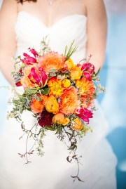 Fall bridal bouquet full of color!