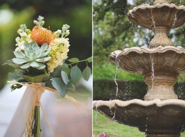 Sweet clusters for the aisle chairs.