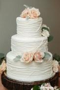 Elegant, rustic cake.