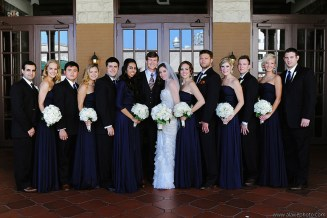 Navy and white bridal party.