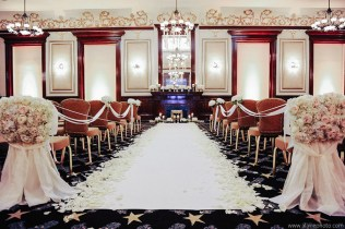 Gorgeous Ceremony Setup in The Driskill Hotel Ballroom