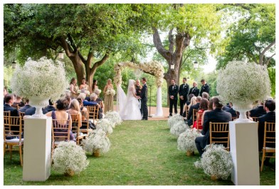 Outdoor ceremony in Austin Texas at The Four Seasons.