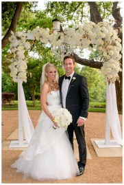 Outdoor ceremony arch in Austin Texas