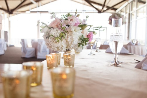 Wedding filled with blush and gold accents.