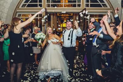 Rose petal exit at The Driskill Hotel