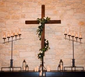 garland greenery cross smith family chapel