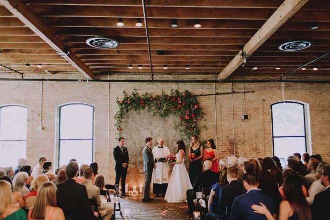 indoor brazos hall wedding