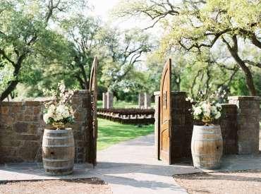 ma maison wine barrels wedding