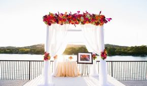 westwood country club chuppah colorful