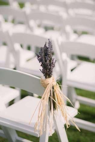 lavender pew marker