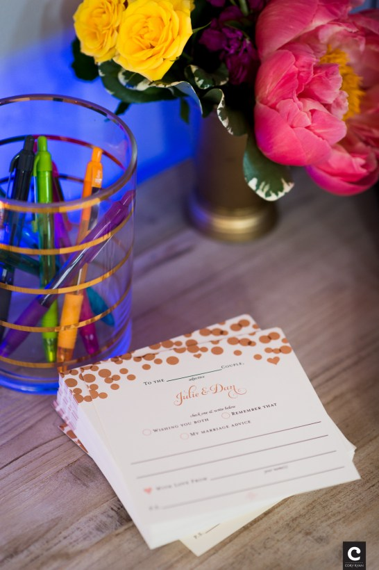 Leave a note for the bride and groom.