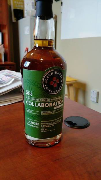 Black Button Collaboration Whiskey a Bourbon, Malt Whiskey Tie-Up