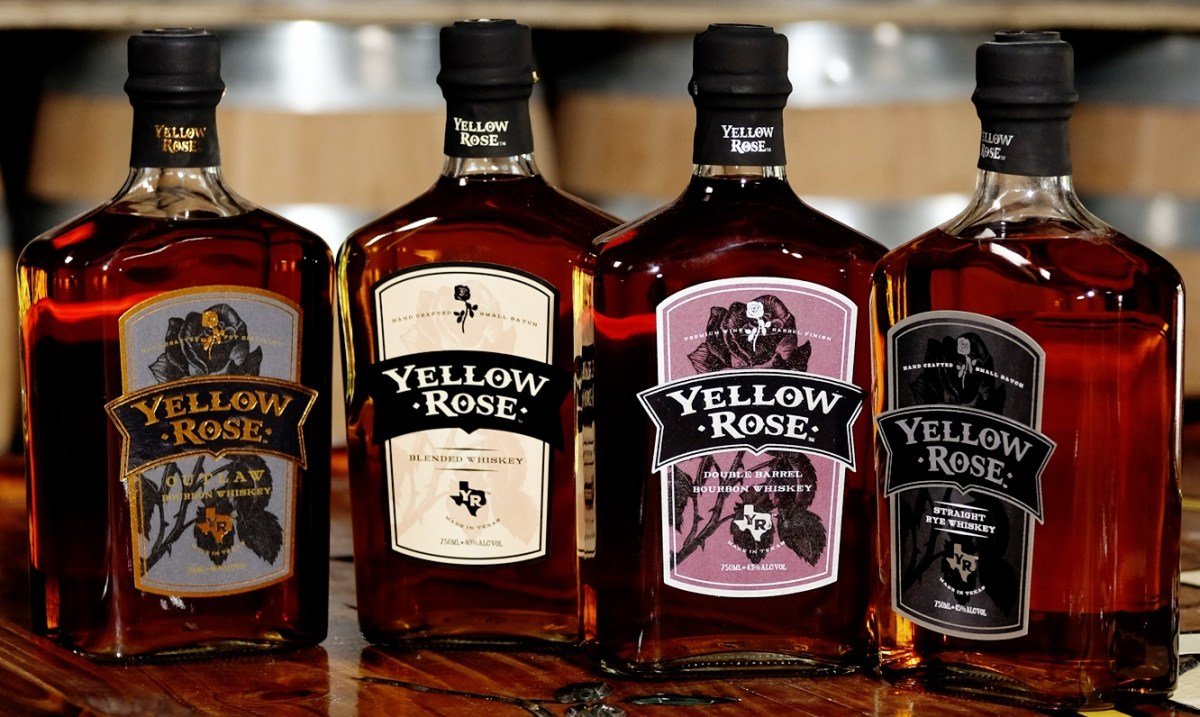 Yellow Rose Distilling - bottles