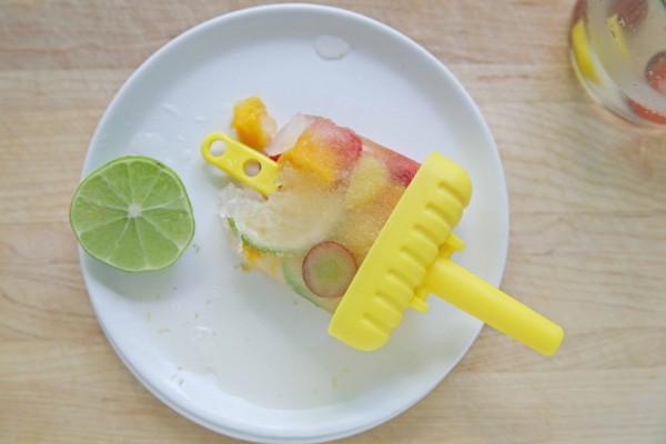 Mango-Lime White Sangria Popsicles
