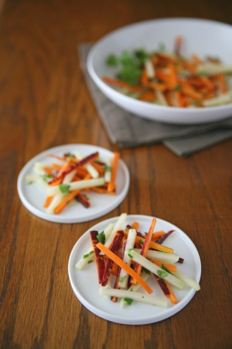 Carrot and Kohlrabi Salad   BourbonAndHoney.com