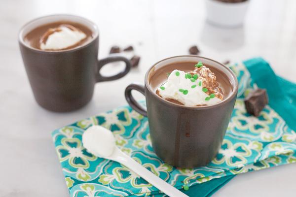 Irish Hot Chocolate | BourbonandHoney.com