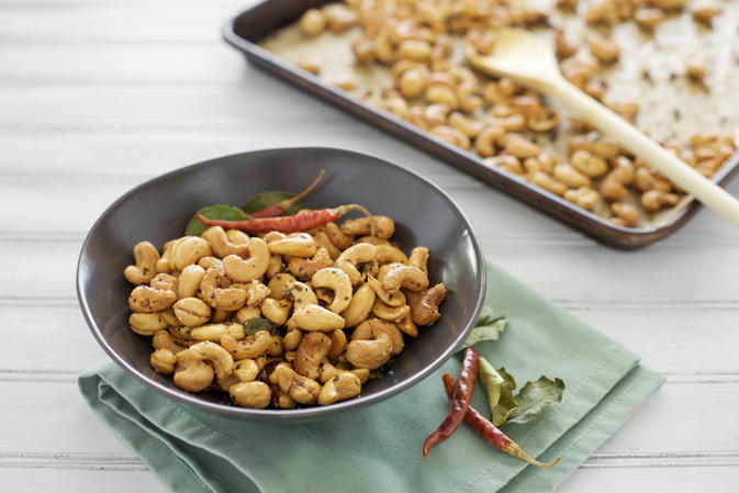 Chile and Kaffir Lime Cashews | BourbonAndHoney.com