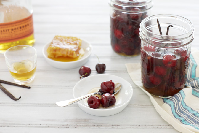 Bourbon and Honey Soaked Cherries | BourbonAndHoney.com