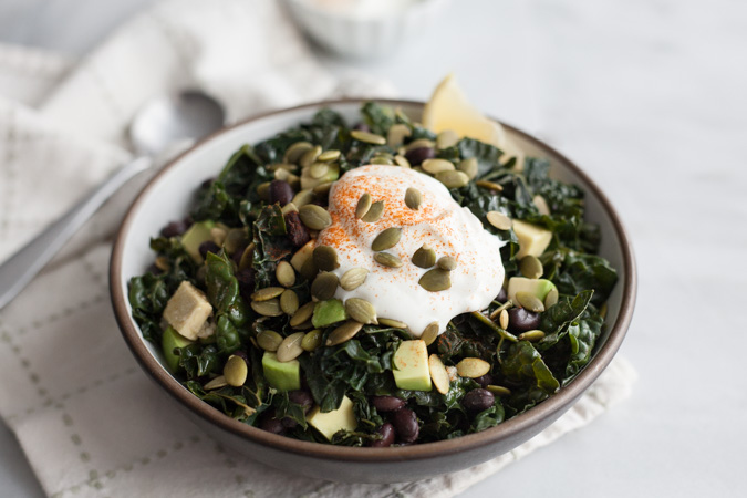 Greens and Black Beans