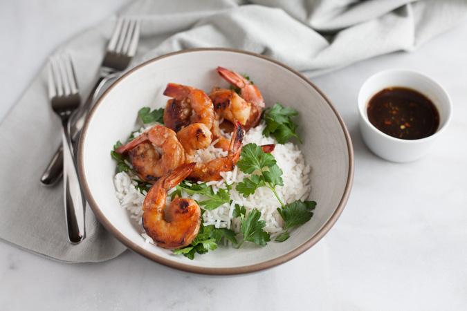 Bourbon and Honey Garlic Shrimp