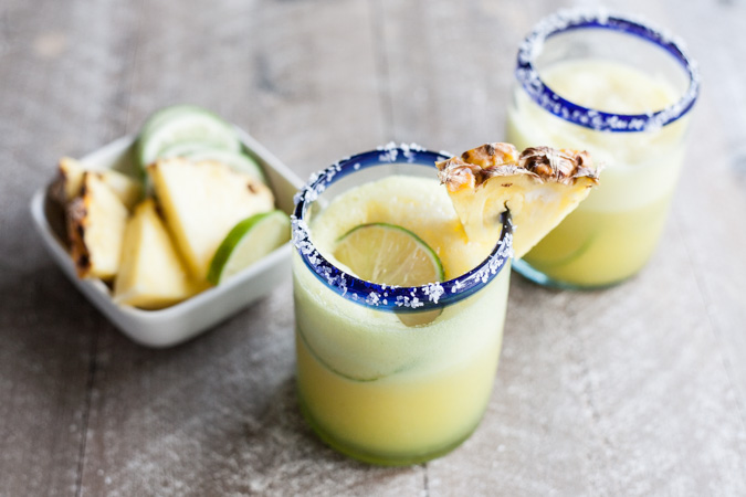 Frozen Pineapple Margaritas