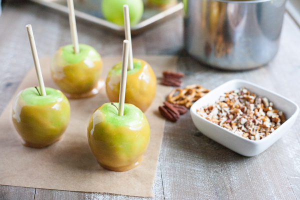 Bourbon and Honey Caramel Apples