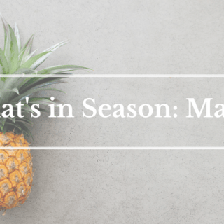 What's in Season: March | BourbonandHoney.com -- From blood oranges and grapefruit to papaya and pineapple this 'What's in Season' feature is a collection of the best fruits, veggies and recipes for the month of March.