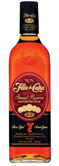 Flor de cana 7 year old Rum bottle