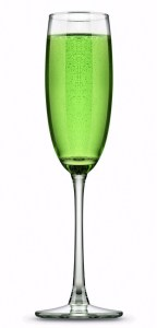 Bellini champagne cocktail