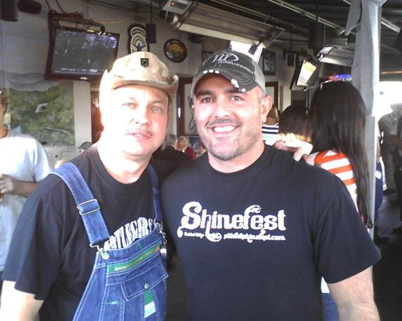 Country Music Artist Matt Stillwell with Moonshiner Tim Smith at Shinefest