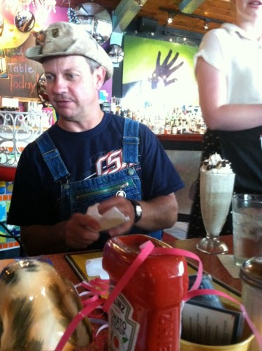Moonshiners Star Tim Smith Drinks a Bourbon Ball Milkshake at Lynn's Paradise Cafe