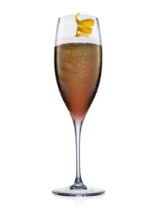 Valentine's Day Champagne Cocktail