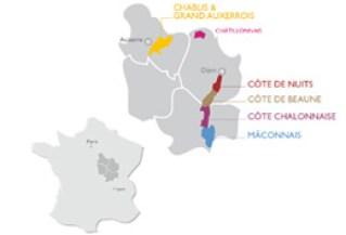 © BIVB / DR Location of the Burgundy vineyard in France