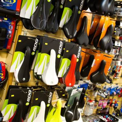 Bicycle saddles and cycling accessories