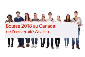 Bourse 2019 au Canada de l'université Acadia