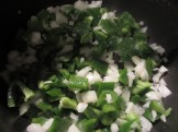 diced peppers and onions