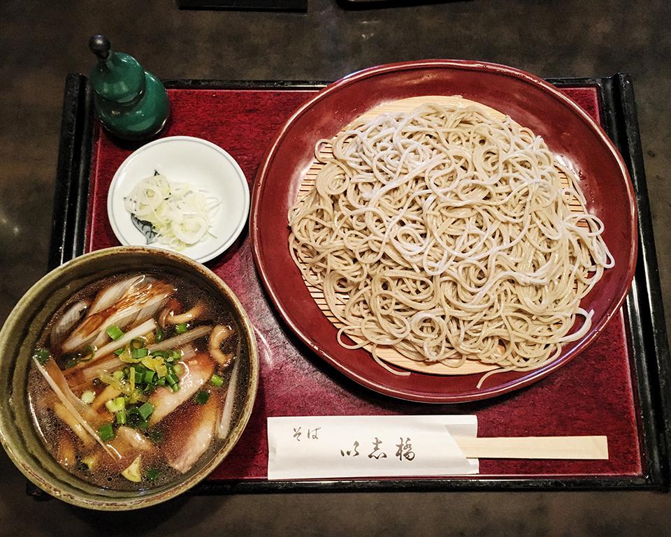 Soba noodles at Kamakura