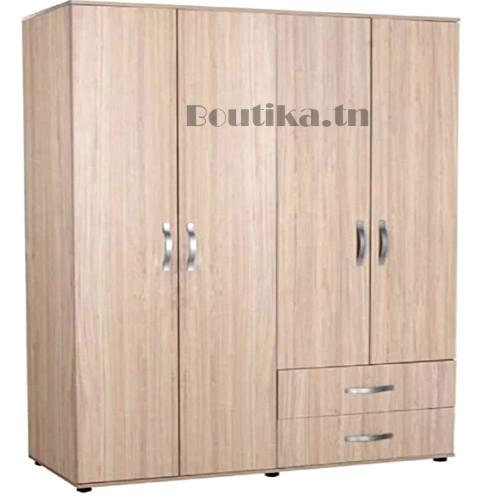 armoire garde robe 4 portes