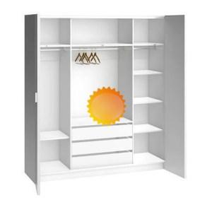 fabrication armoire 4 portes blanche en Tunisie