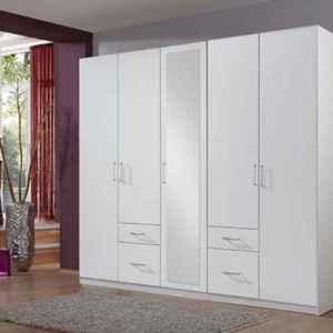 Dressing armoire 5 portes battante blanche