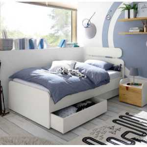 lit blanc avec tiroir de rangement tunisie