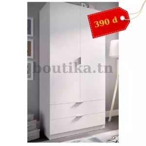 armoire penderie 2 portes battantes