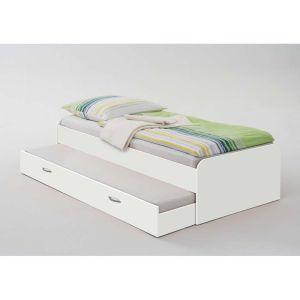 lit gigogne en blanc pour enfant et adulte