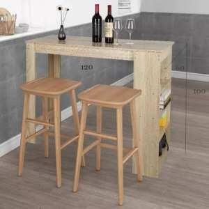 Table haute pour bar ou table à manger en 2 couleurs