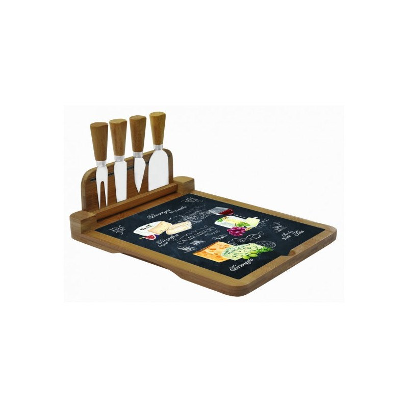 plateau a fromage rectangulaire rabatable world of cheese