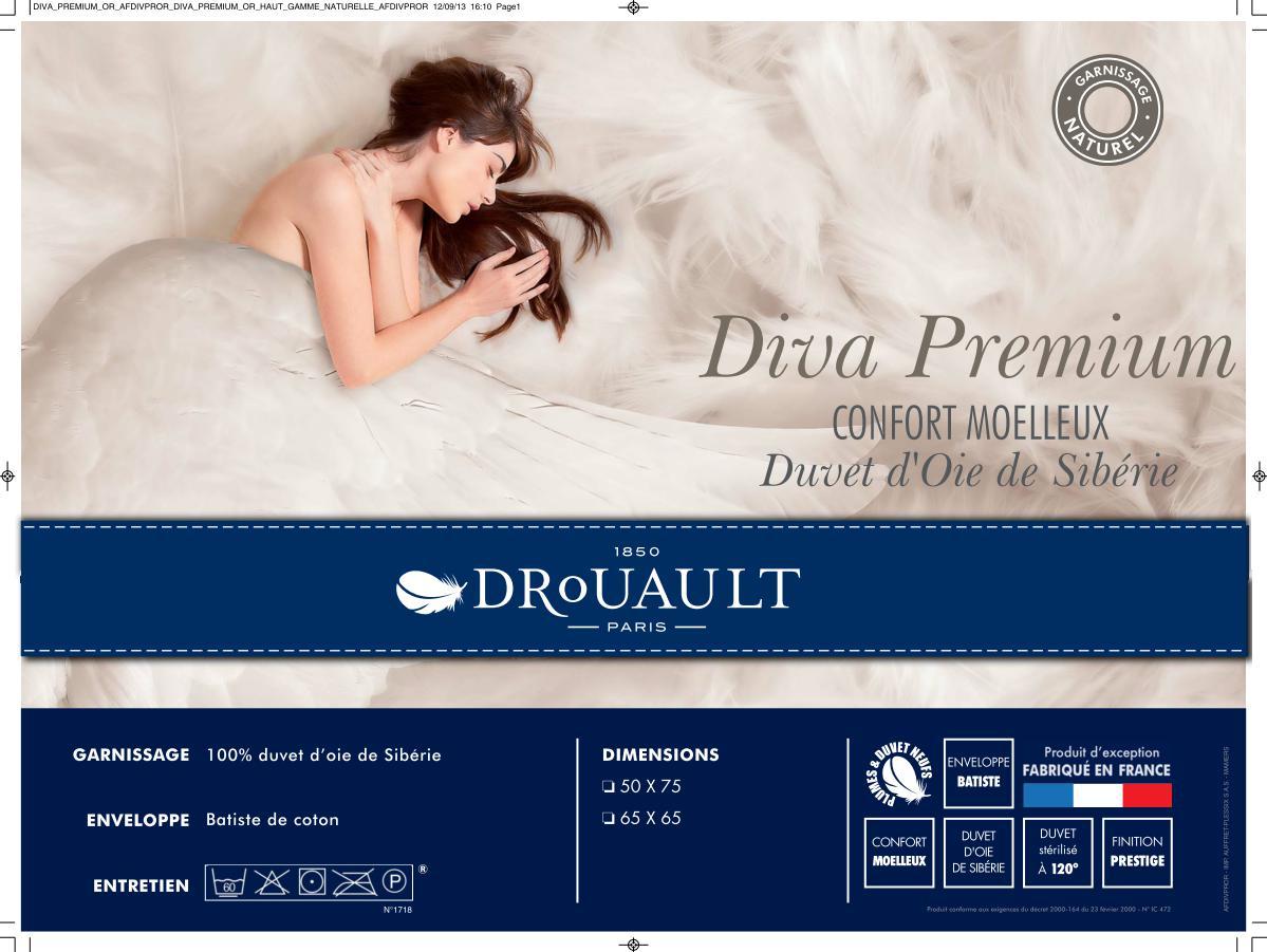 Oreiller 100 Duvet Doie De Sibrie Drouault