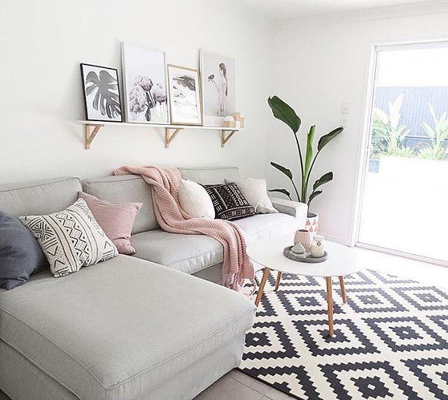 tapis gris rose blanc enredada